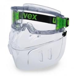 Protège-face UVEX Ultravision FaceGuard gris translucide avec lunettes-masques 9301105
