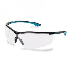 Lunettes à branches UVEX Sportstyle noir/bleu cobalt avec oculaire incolore