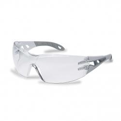 Lunettes à branches UVEX Pheos gris clair/gris avec oculaire incolore