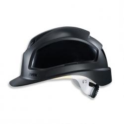 Casque de sécurité UVEX Pheos B-WR noir à visière longue et crémaillère