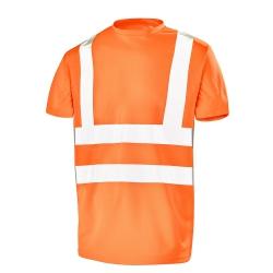 Tee-shirt manches courtes haute visibilité Fluo Base 2