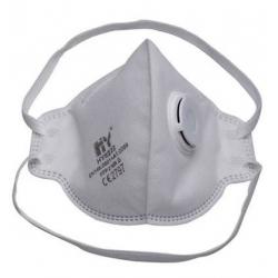 10 masques antipoussière pliables FFP2 avec soupape et élastiques en caoutchouc naturel