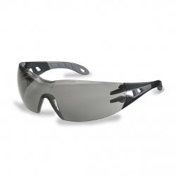 Lunettes à branches UVEX Pheos noir/gris avec oculaire gris solaire