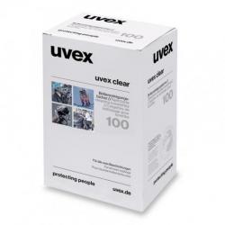 Boîte de 100 lingettes nettoyantes UVEX en papier humidifié