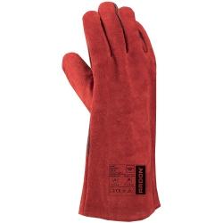 Gants de soudage en cuir rouge RENE (12 paires)