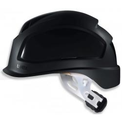 Casque de sécurité UVEX Pheos E-S-WR noir à visière courte et crémaillère
