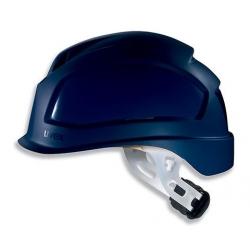 Casque de sécurité UVEX Pheos E-S-WR bleu à visière courte et crémaillère