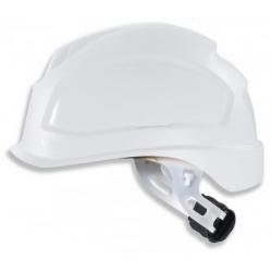 Casque de sécurité UVEX Pheos E-S-WR blanc à visière courte et crémaillère